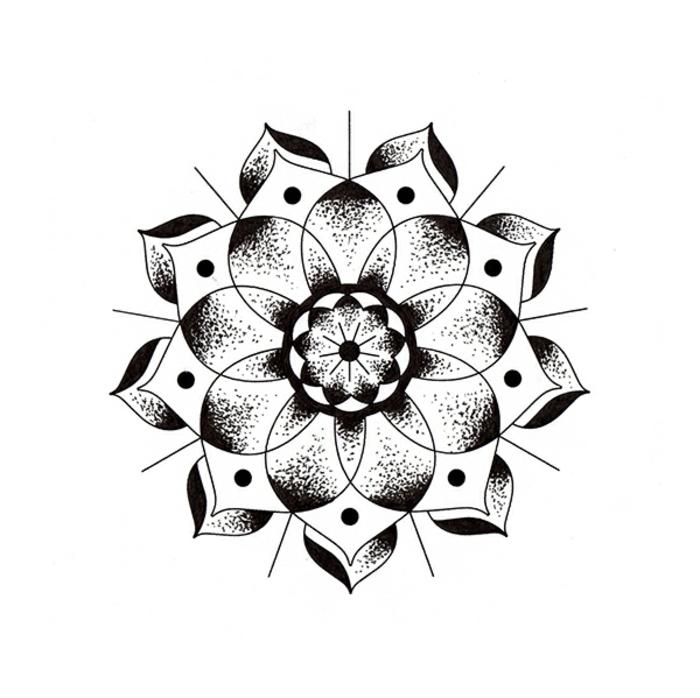 Aspect linéaire dessin de géométrie formes géométriques fleur