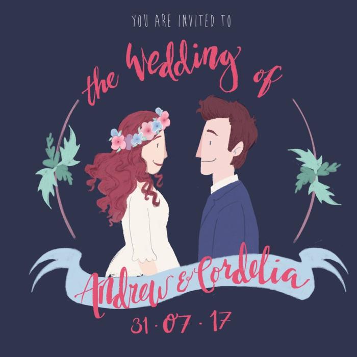 Clipart mariage mariage image dessin humoristique mariage couple qui va se marier faire part original illustration personnalisé
