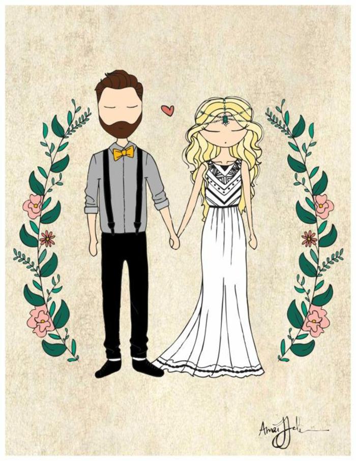 Petites images à imprimer dessin mariage religieux idée couple belle dessin simple