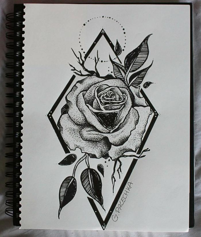 1001 images du dessin g om trique magnifique pour vous inspirer - Dessin de fleur facile ...