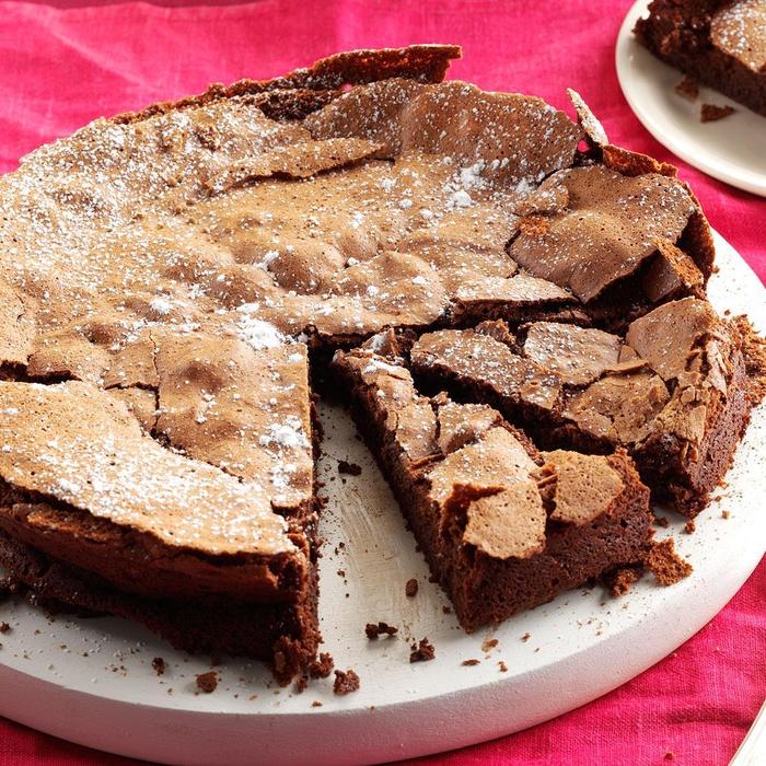 recette de gateau facile et original, un gâteau au chocolat décadent sans farine