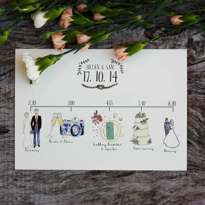 Ton image drole mariage personnalisée illustration couple plan du mariage heurs cérémonie