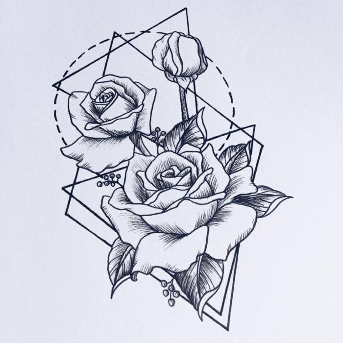 Papiers crayons dessin mathématique image dessin beau rose