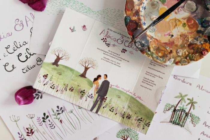 Anneau dessin colombe pour mariage image fiançailles gratuit carte de demande de mariage