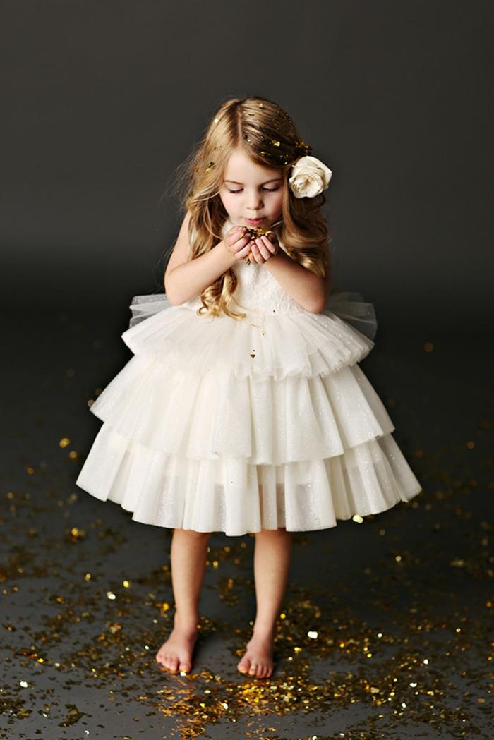 Tenue de soirée petite fille robe de bapteme princesse robe petite fille d honneur