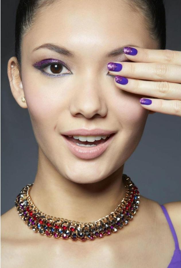 Superbe kit vernis semi permanent opi durée vernis gel violet ongles mat et brillant