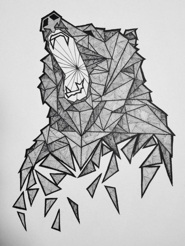 Symbole geometrie le dessin geometrique lignes geo ourse