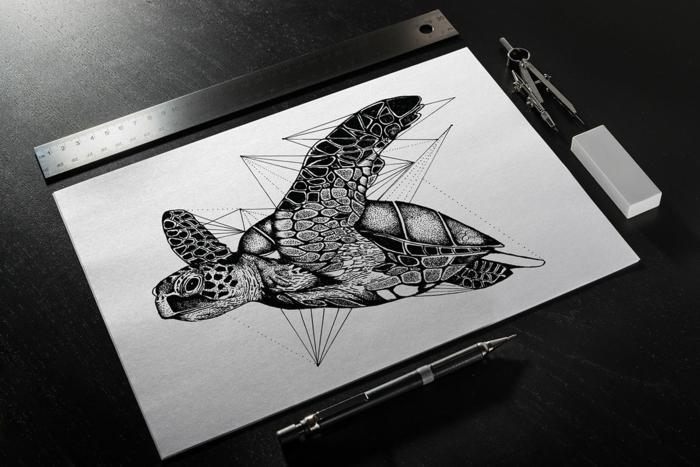 Quel dessin géométrique facile réaliser aujourd hui ocean animeaux