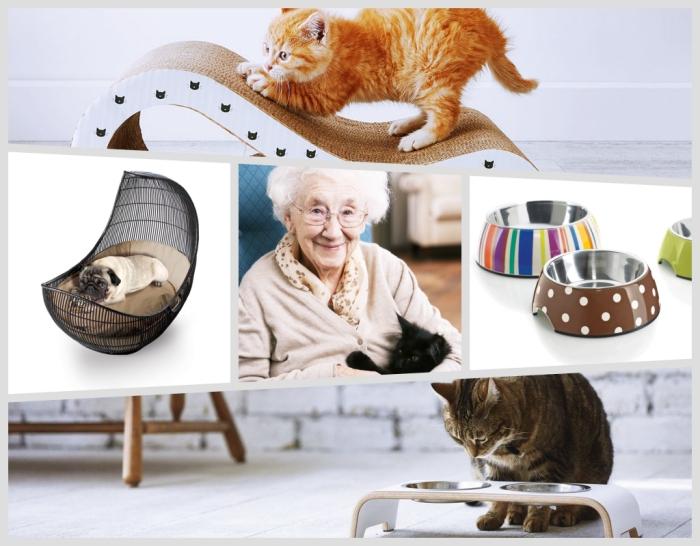 modèle de lit pour chat ou chien à offrir pour la fête des grands meres, accessoires modernes pour les animaux domestiques