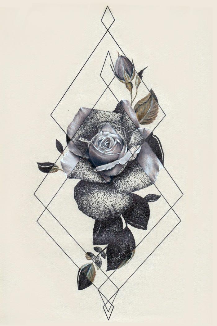 Dessin géométrique à reproduire idée dessin simple tuto fleurs geometriques formes