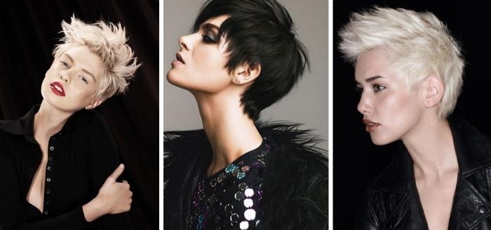 Coupe tres courte cheveux noir