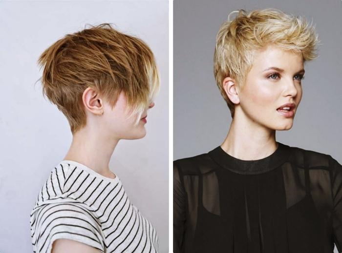 coupe de cheveux femme pour visage long avec volume sur le dessus de la tête et frange longue de côté, comment porter la chemise noire pour être élégante