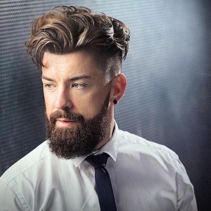 comment bien tailler sa barbe les plus belles barbes dégradé sur le coté et coupe hipster