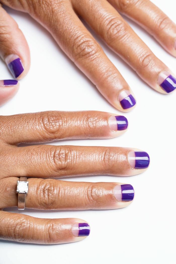Vernis opi semi permanent violet le vernis semi permanent pailleté