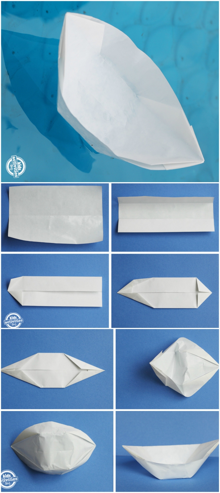 comment faire un bateau en papier facile avec une simple feuille de papier, barque origami que vous pouvez utiliser comme de petits bols