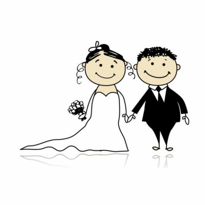 Illustration pour livret de messe mariage symbole mariés couple mariage