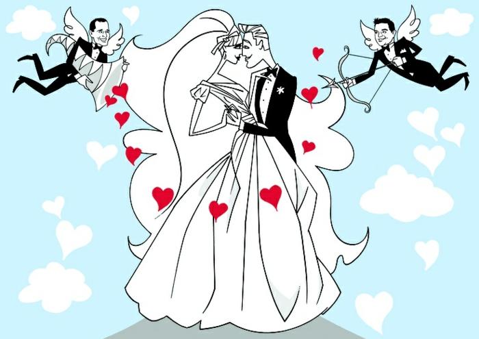 Joli dessin mariée faire part dessin mariage idée dessin couple amour