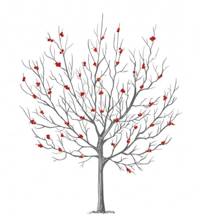 L arbre empreinte mariage un souvenir valeur - Dessin arbre sans feuille ...