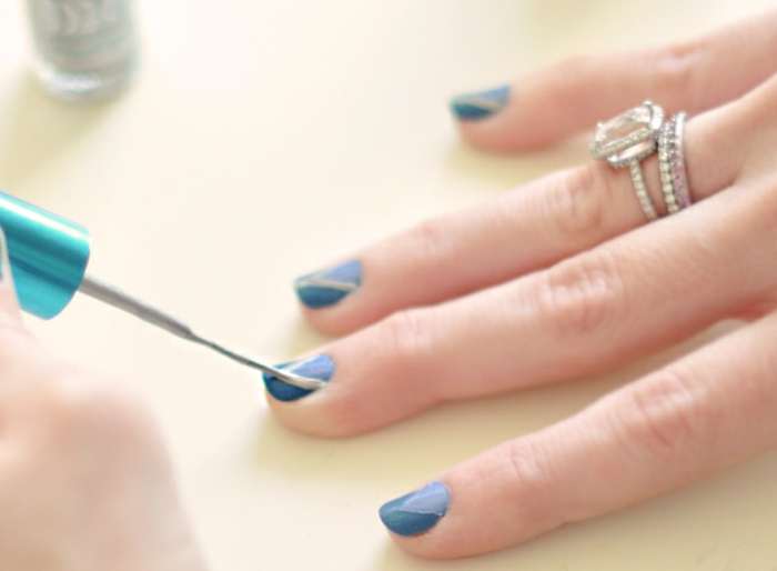 Quel vernis semi permanent sephora choisir beaux ongles bleu et dorée