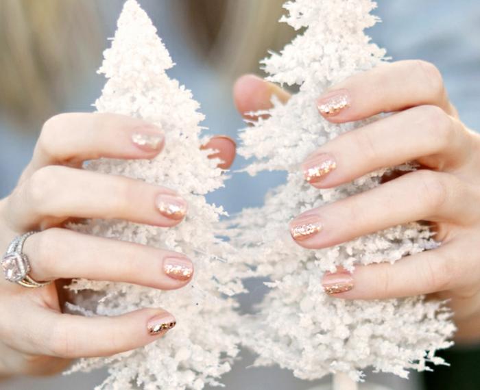 Nail art vernis semi permanent modele vernis semi permanent manucure reveillon
