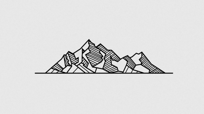 Montagnes dessin géométrique avec explication dessiner montagne avec lignes
