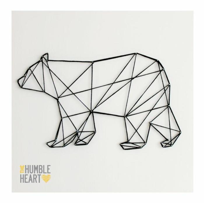 Tracé symbole de geometrie dessin simple à faire soi meme ourse
