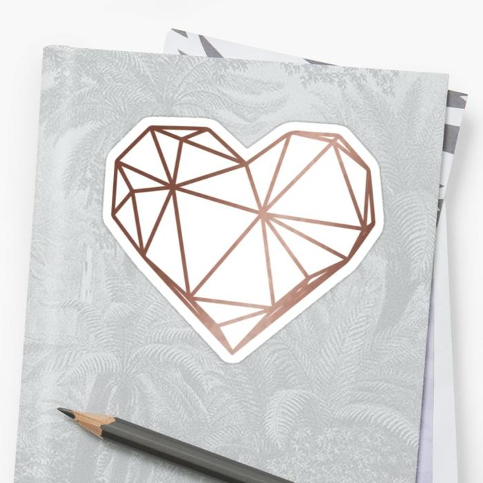 Un dessin géométrique avec explication cool idée dessin coeur