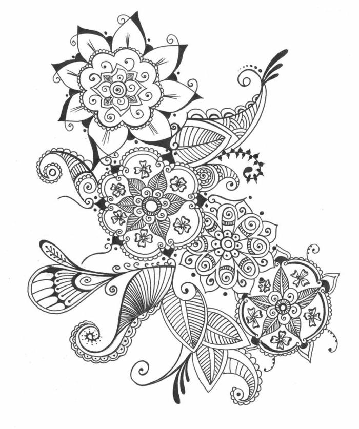 1001 images du dessin g om trique magnifique pour vous - Photo de fleur a dessiner ...
