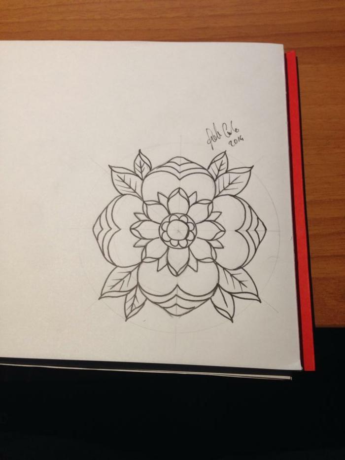 Quel dessin géométrique facile réaliser aujourd hui fleur mandala