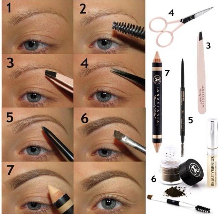 quels produits de maquillage utiliser pour avoir de jolies sourcils, tuto maquillage yeux avec un accent sur les sourcils