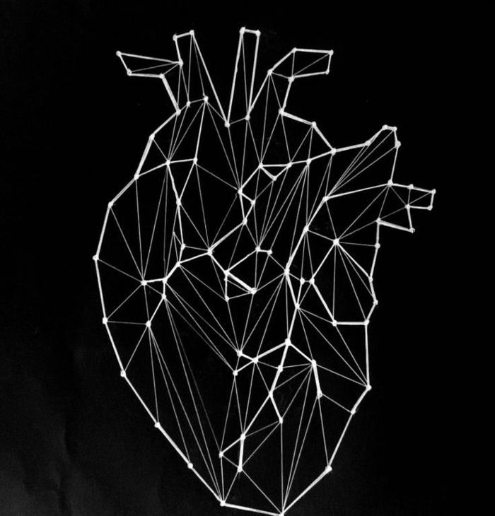 Idée dessiner des figures géométrique comment dessiner coeur