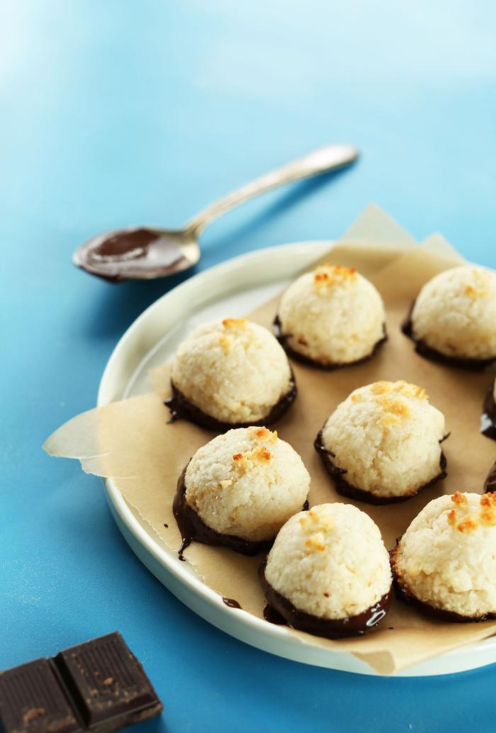 recette diététique de petits rochers à la noix de coco et au chocolat noir