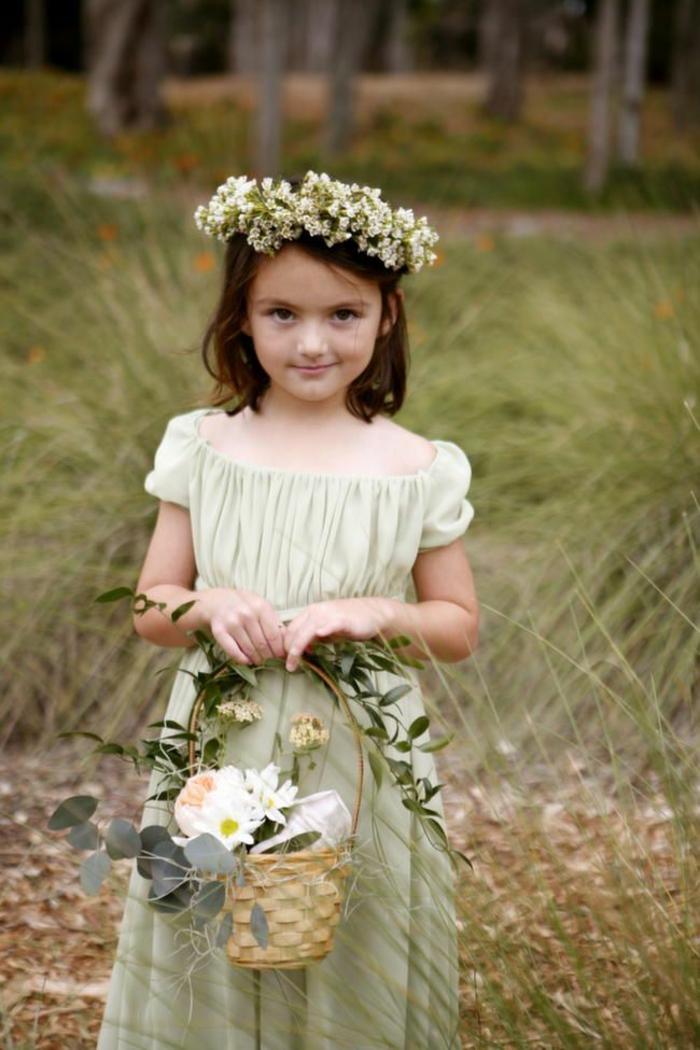 Mignonne fille robe demoiselle d honneur ou enfant tenue bapteme robe