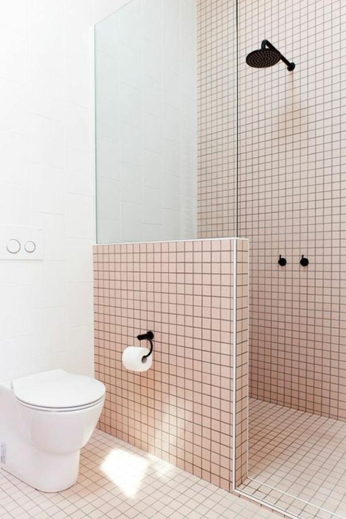 1001 id es pour une salle de bain 6m2 comment r aliser - Salle de bain noir et rose ...