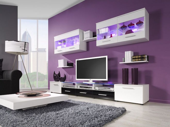 1001 id es couleur mauve 50 nuances de violet. Black Bedroom Furniture Sets. Home Design Ideas