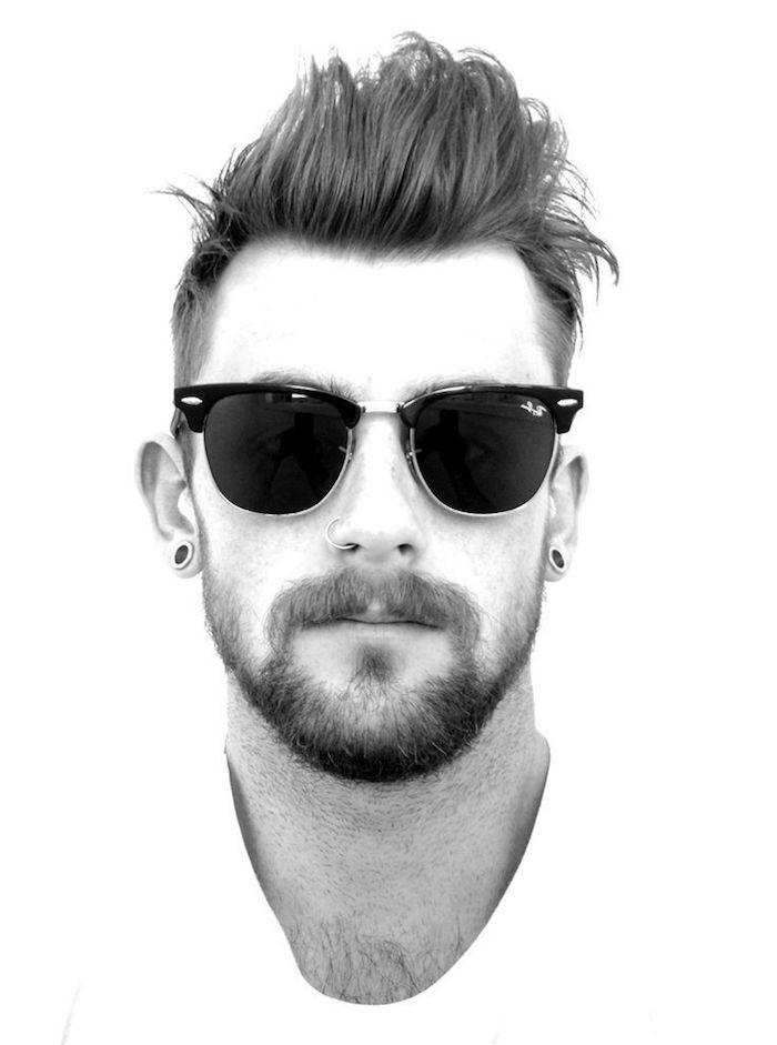 barbe van dyke morphologie visage long et fin et coupe banane hipster