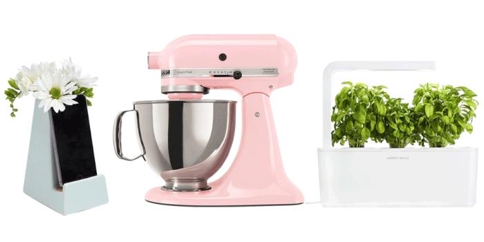 ustensiles et accessoires pour la cuisine à offrir à sa mamie pour la fête des grands mères, support portable avec fleurs