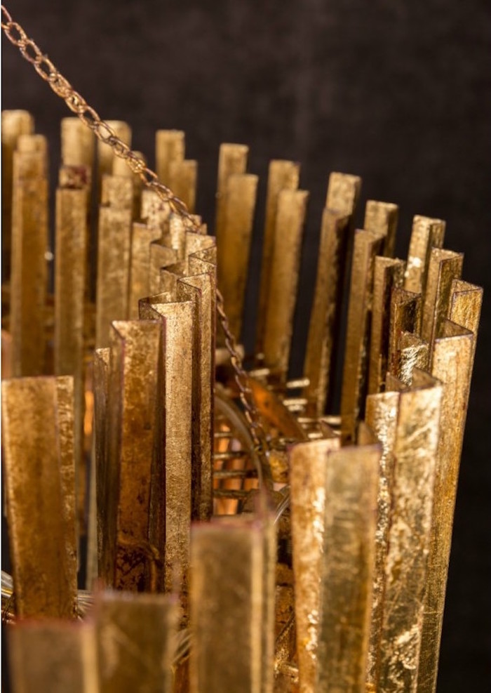 acheter lustre doré design artixe, chandelier design made in france