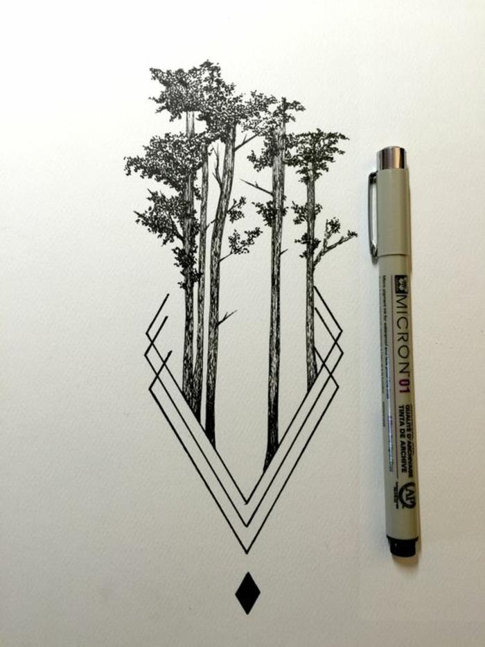 Fleur geometrique dessin geometrique a faire avec une ligne