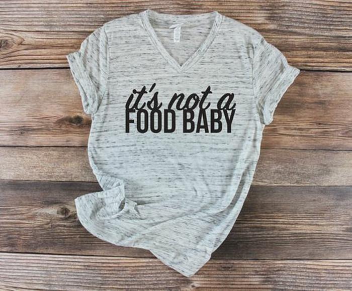 it's not a food t shirt pour annoncer qu'on est enceinte, vêtement avec scripts personnalisés
