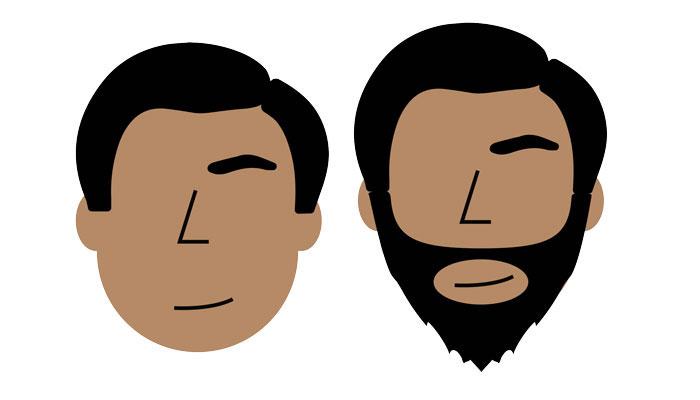 style de barbe pour visage rond chauve et crane rasé
