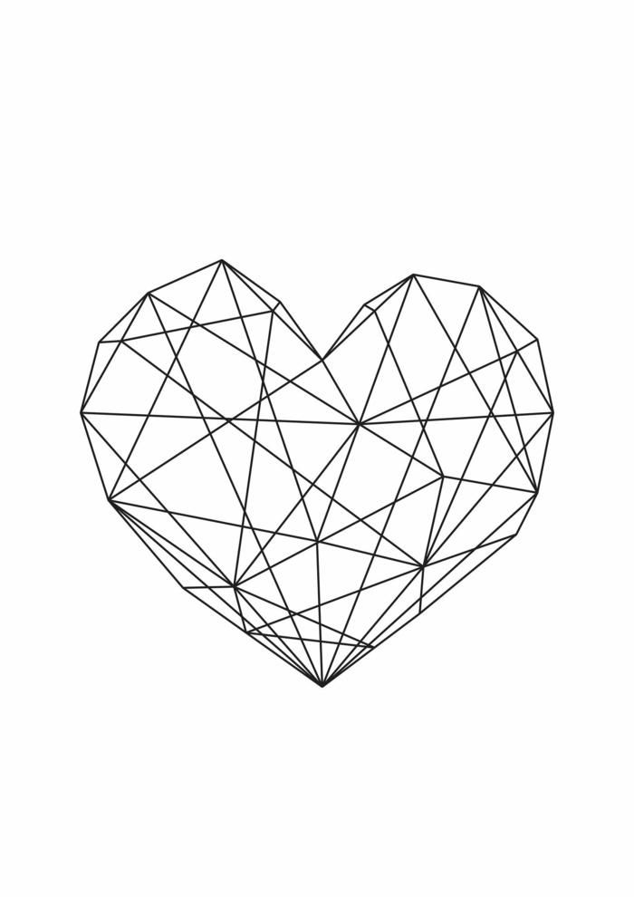 Règle dessin forme géométrique image de dessin joli coeur