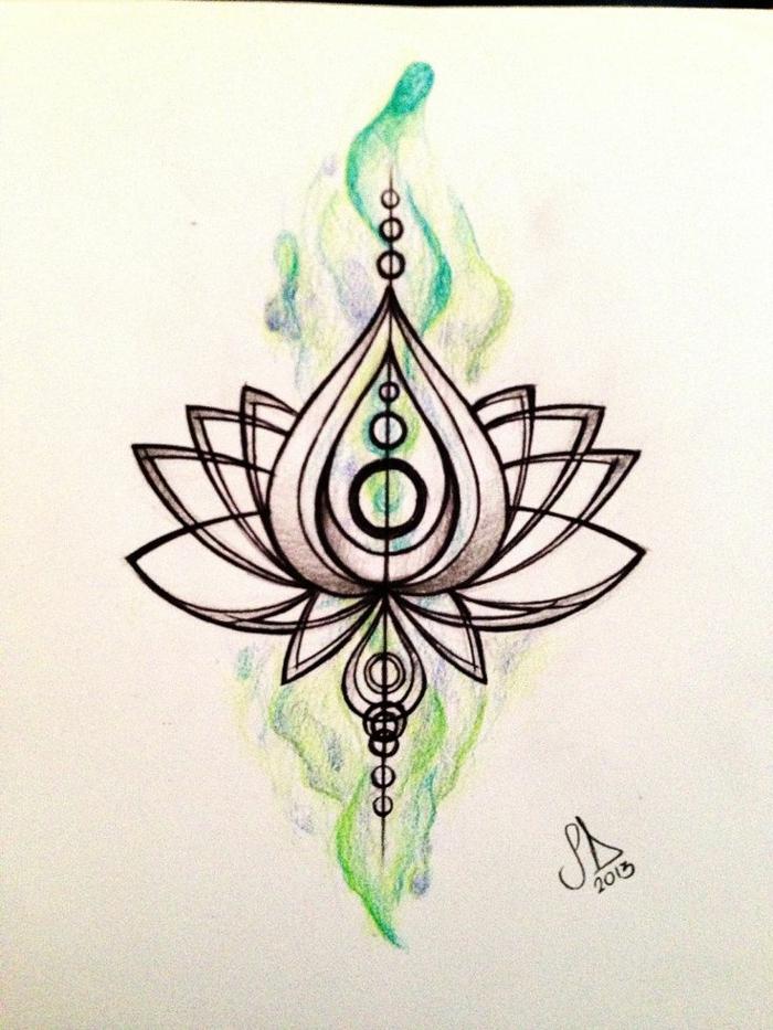 Tracé symbole de geometrie dessin simple à faire soi meme lilie