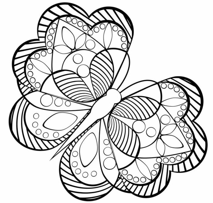 Dessin géométrique à reproduire idée dessin simple tuto papillon