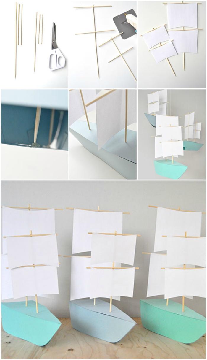 idée pour la décoration thématique de votre anniversaire sur thème marinn tuto pour faire un bateau papier facile