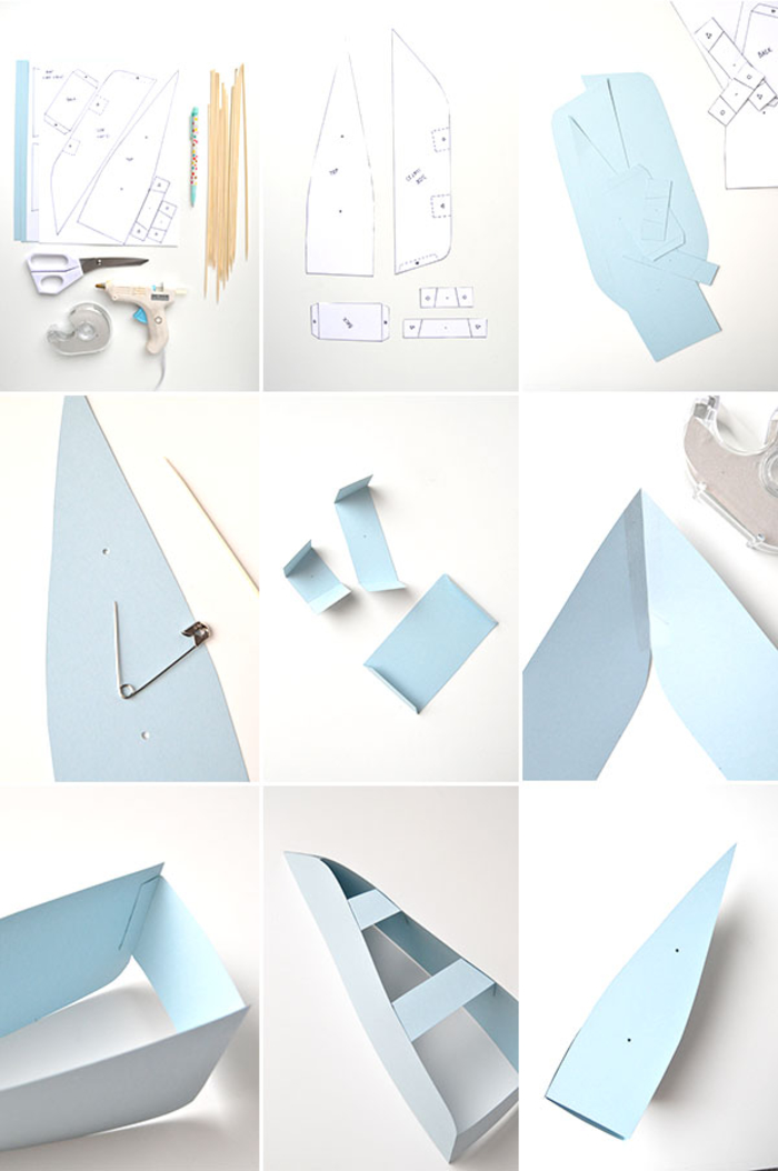 tuto pour réaliser un joli modèle de bateau papier qui sera un joli accent déco dans un anniversaire sur thème marin