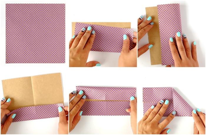 tuto de pliage papier origami pour réaliser un support pour smartphone en modèle origami 3d