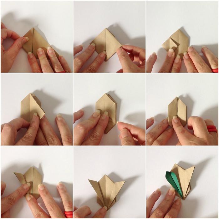 tuto origami pour réaliser de petits lapins décoratifs qui vont orner un mobile déco originale