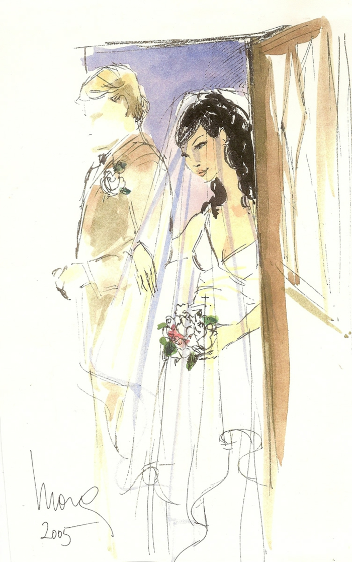 Superbe image carte de mariage photo de dessin illustration