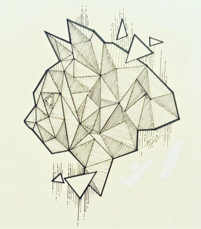 Facile dessin géométrique facile idée comment dessiner